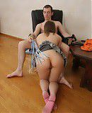 Cruel sex Leaning down to suck her boyfriend`s fat throbbing cock this cute teen felt the sting of a whip on her plump round ass. She couldn`t explain how good it felt or how wet it made her pussy each time he slapped that whip.