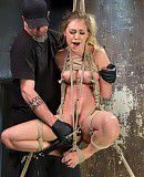 Bondage Young Blonde Babe is Devastated in Brutal Bondage and Made to Cum