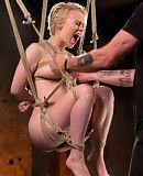 Extreme Blonde Pain Slut in Brutal Bondage and Suffering Grueling Punishment