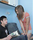 Forced This kinky brunette teen wanted to play it rough with her boyfriend and when he grabbed her from behind while she was in the bedroom putting away some laundry it made her pussy wetter than she`s ever been before.