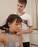 When this dark haired teen was collared and leashed for the first time she knew that it was going to be a lifelong addiction. The way the leather collar felt around her neck, the way the whips felt on her skin, it all made her pussy drip.