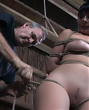 Forced PD ties up Nyssa Nevers and starts with a bit of tickling. It does not hurt and she should count herself as lucky. But instead she complains